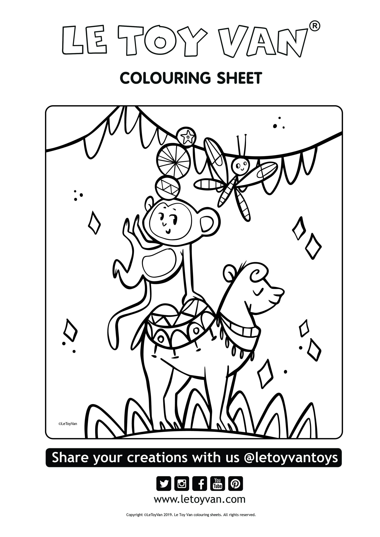 free colouring sheet circus