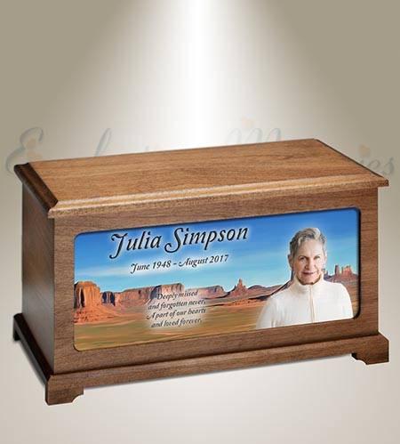 Arizona Desert Photo Funeral Urn
