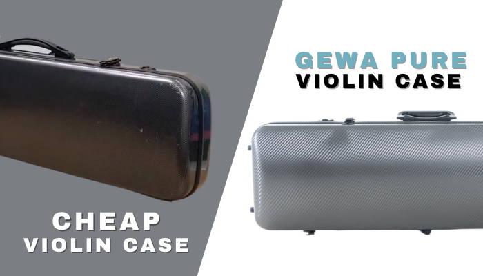 cheap violin case vs gewa pure violin case