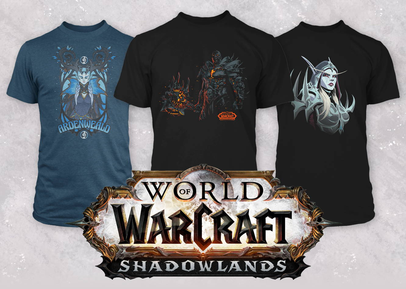 World of Warcraft Shadowlands collection of tees