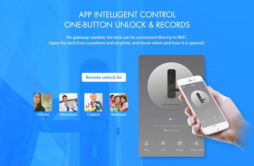 Alfawise E202 Touchscreen Fingerprint Smart Lock Right Open