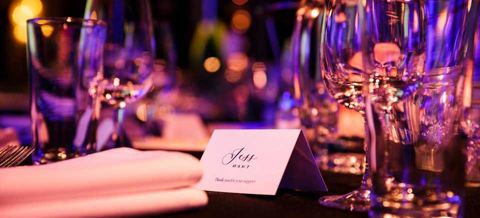 Personalised place card for corporate event