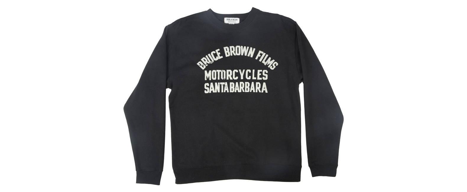 Bruce Brown Films Santa Barbara Fleece in Black