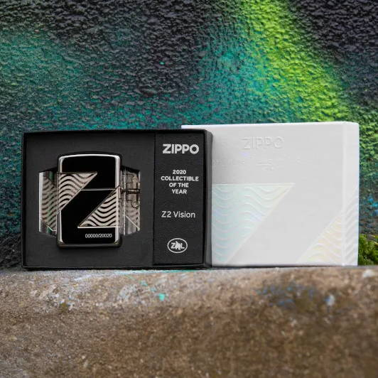 2020 Collectible of the Year lighter in its packaging
