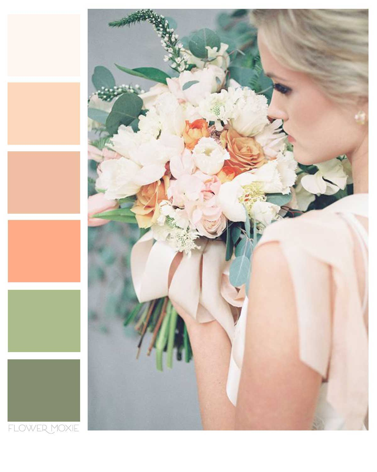 peaches and cream wedding flower packages