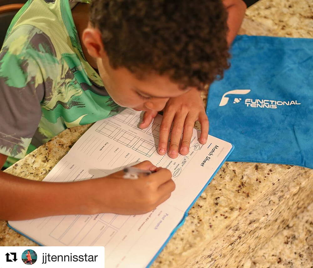 JJTennis Star busy with the Functional Tennis Journal