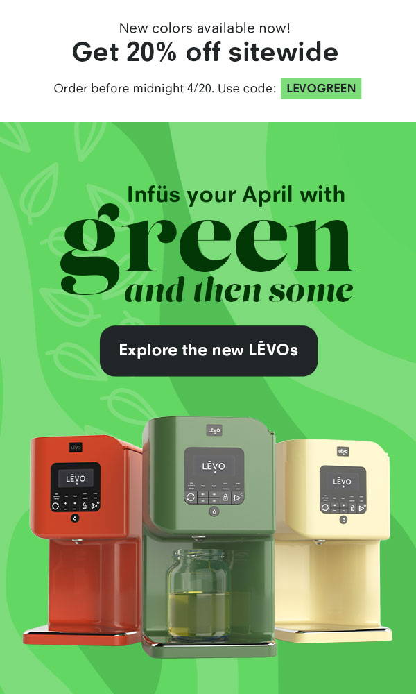 Get 20% off with code LEVOGREEN until 4/20