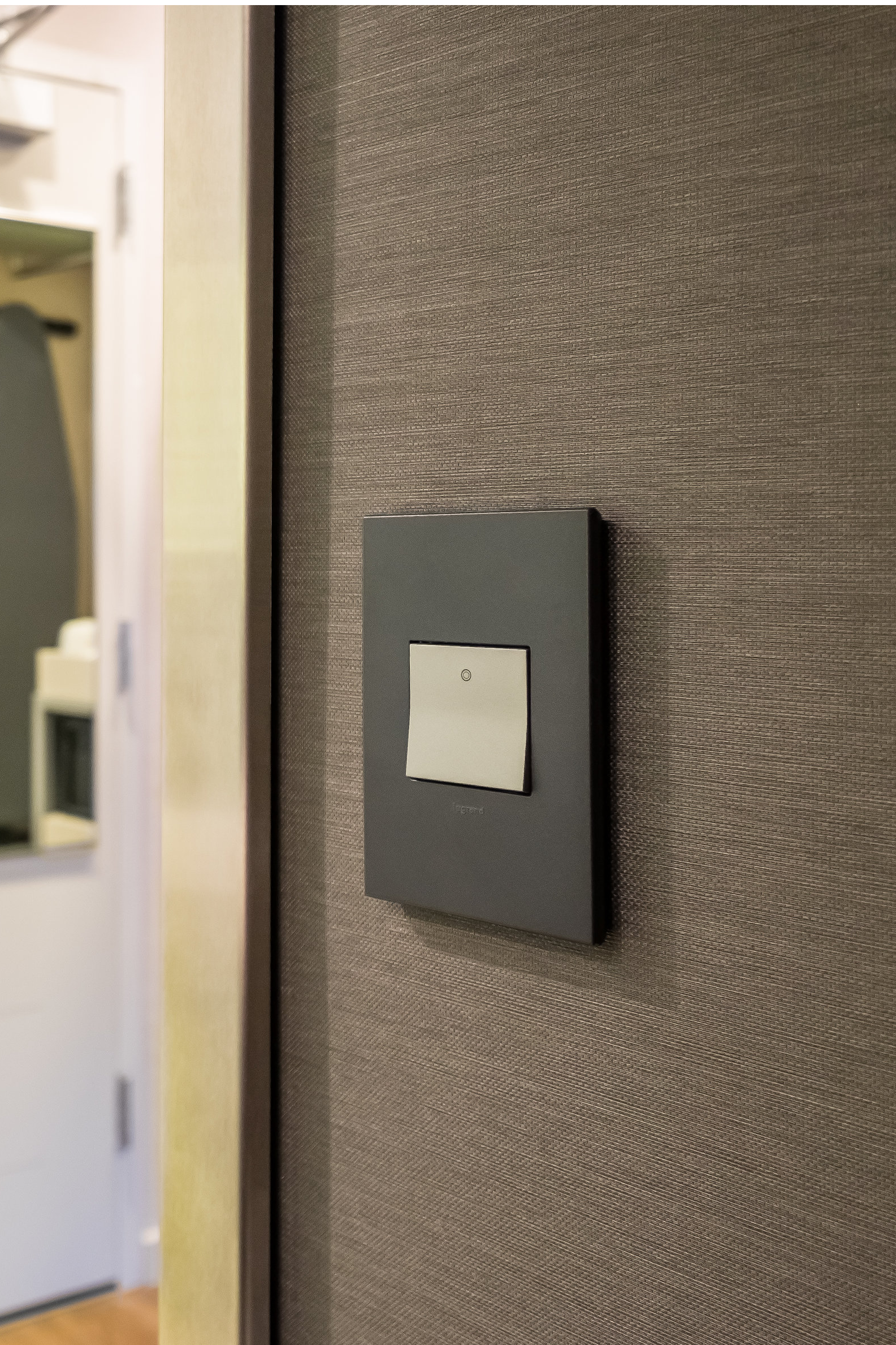 Legrand adorne Wi-Fi lighting control system example wall switch