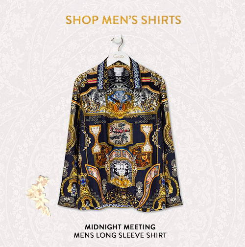 Shop Midnight Meeting Mens Long Sleeve Shirt