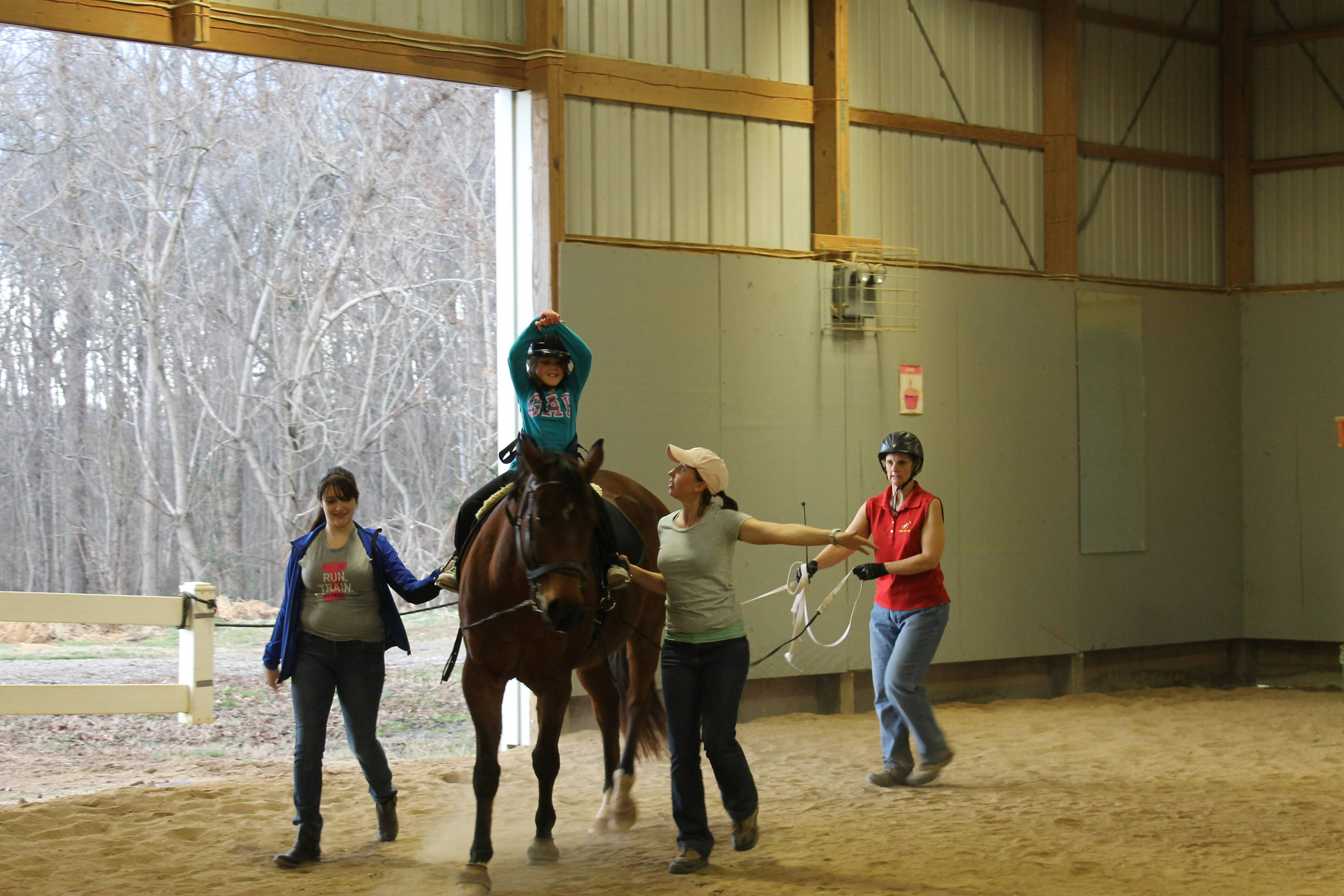 Indoor arena at Shining Hope Farms