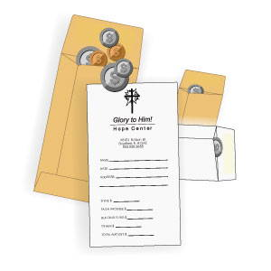 Coin envelopes for Church Giving
