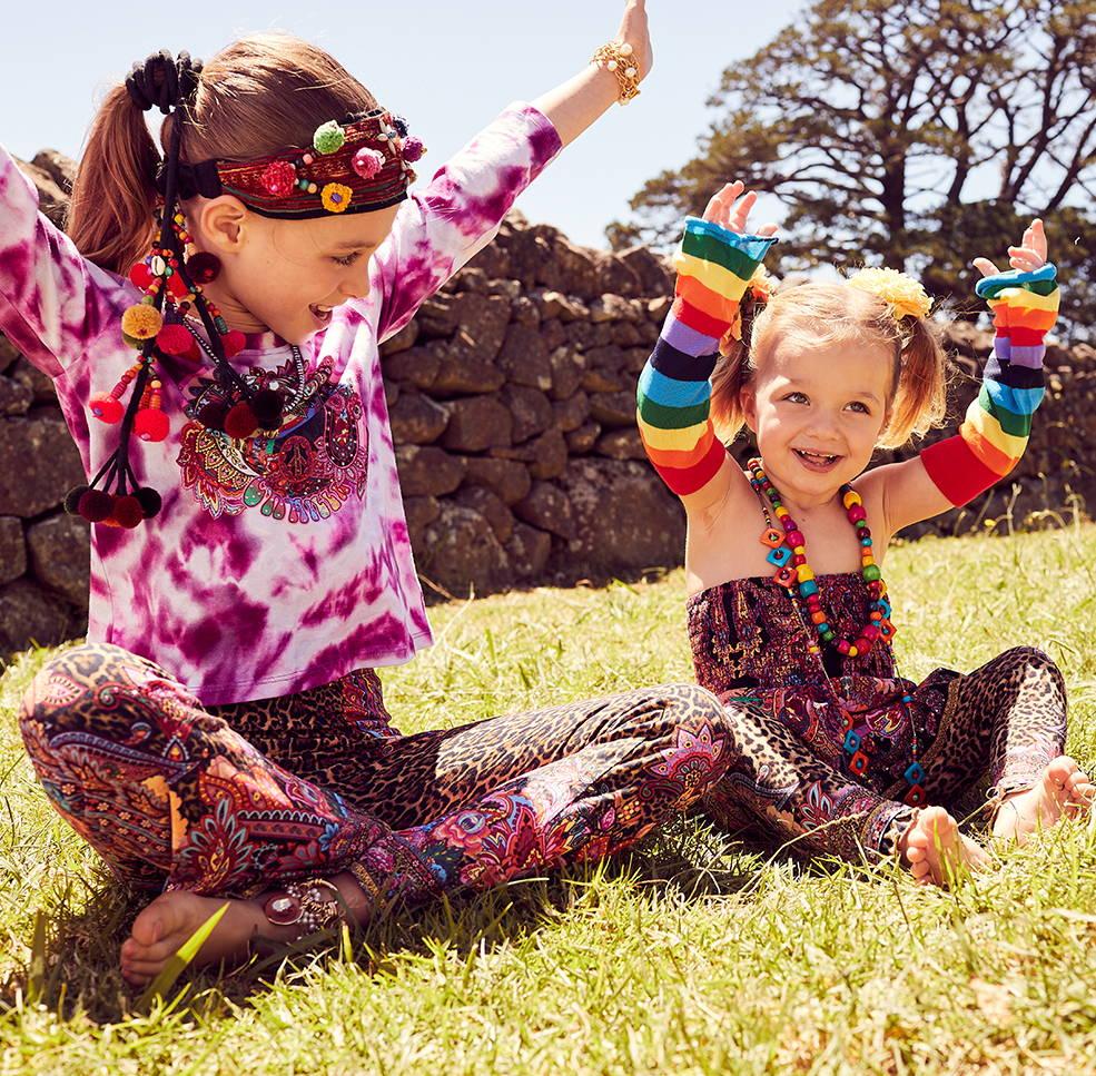 CAMILLA kidswear, CAMILLA baby, CAMILLA tie dye kids tops CAMILLA kids leopard print skirt, camilla leopard print leggings