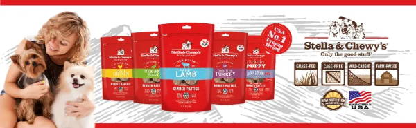 stella & chewy's freeze-dried raw dog food and freeze-dried raw cat food  collection