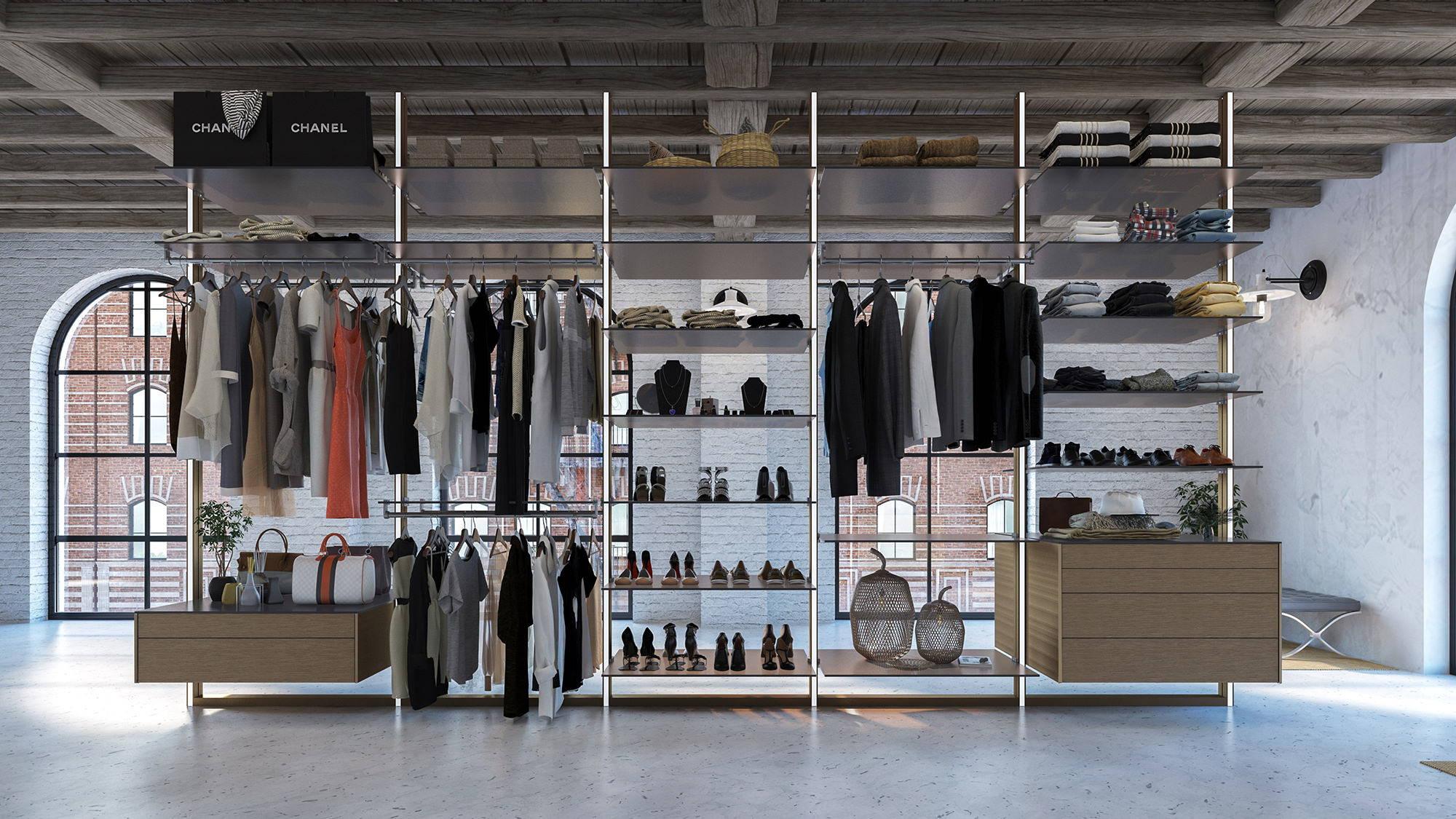 Dress Wall Modular Walk In Closet System Portapivot