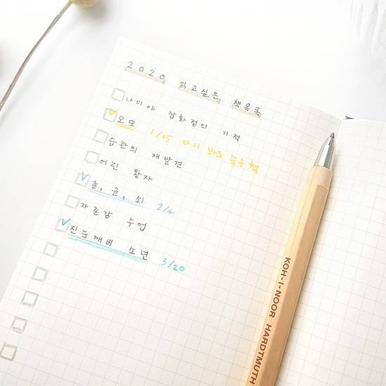 Grid note - O-CHECK Eco-friendly 2020 A6 dated daily diary planner
