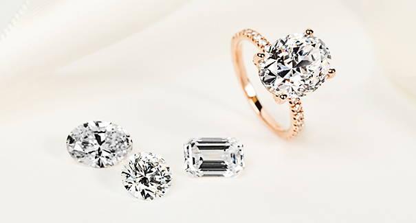 Loose Lab Grown Diamonds and a Lab Grown Diamond Ring