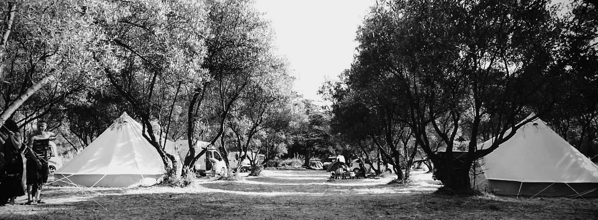 village de tentes pour festival