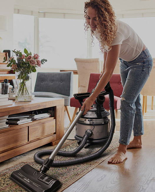 woman cleaning with majestic