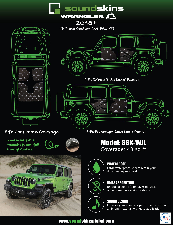 SoundSkins Pro Jeep Wrangler JL Template Kit
