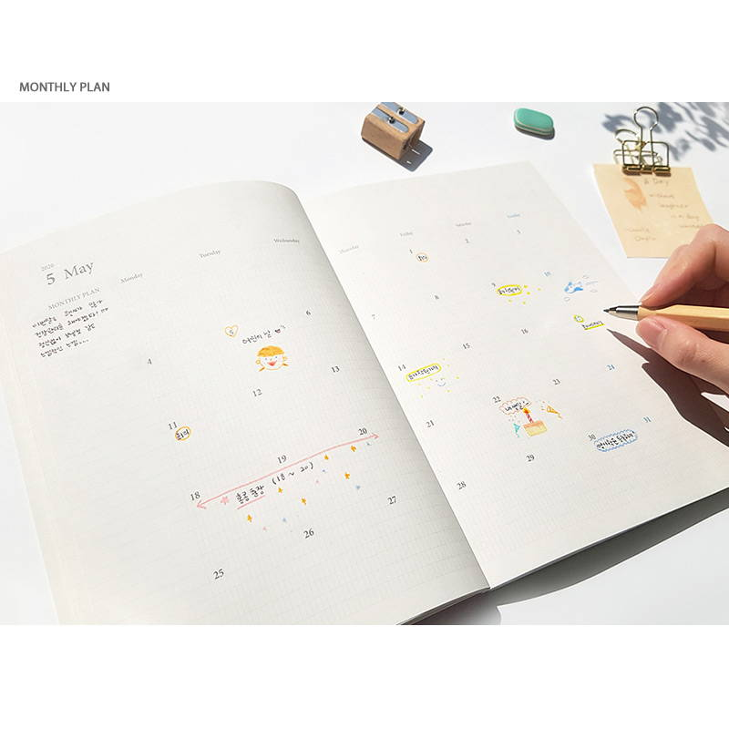 Monthly plan - O-CHECK 2020 Simple and basic A5 dated weekly planner