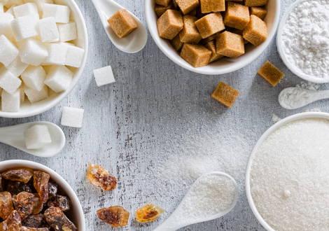 Verschiedene Formen von Zucker