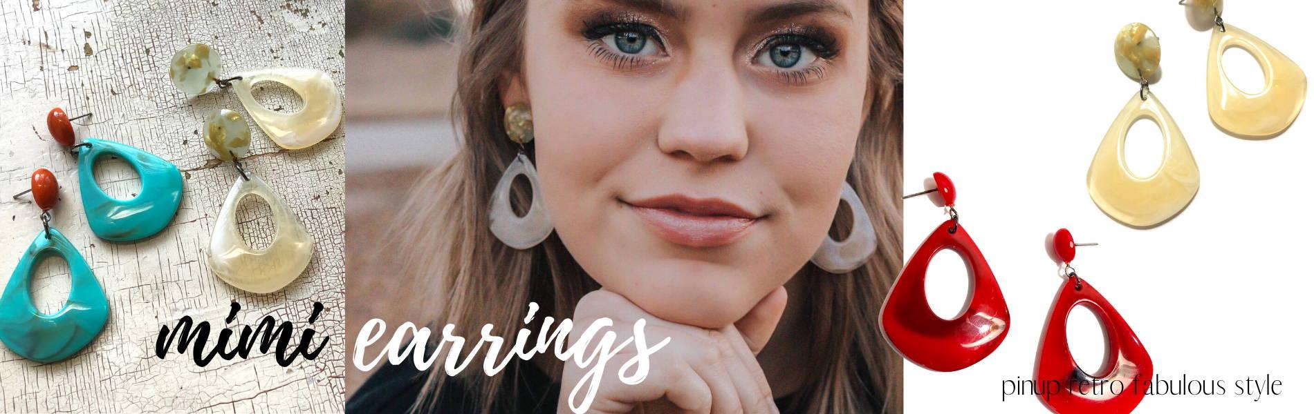 the mimi acrylic drop earrings