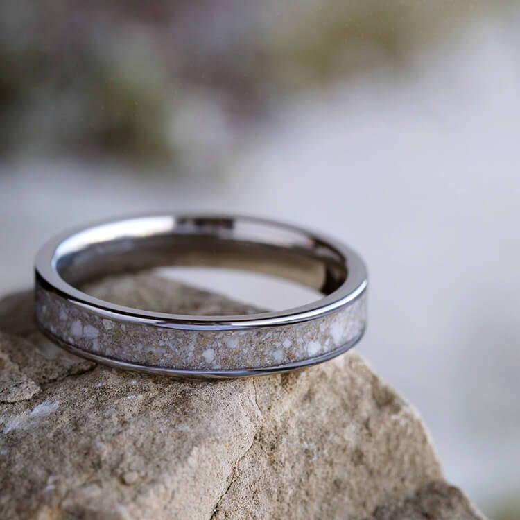 Cremation ring in titanium
