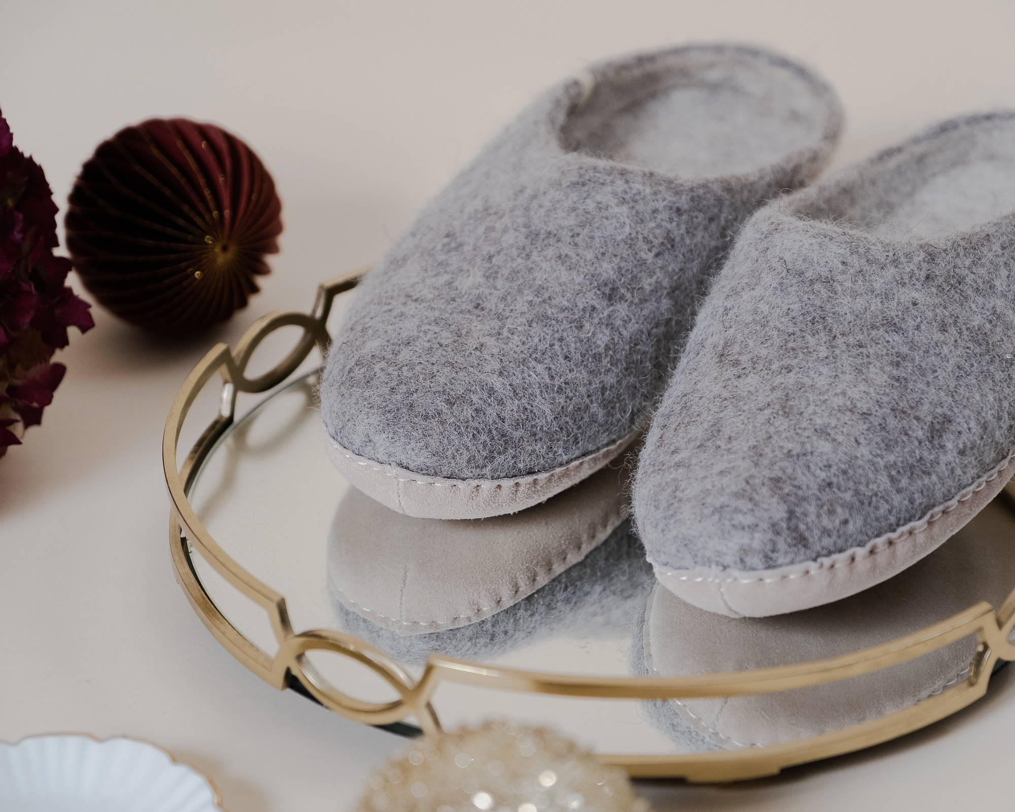 Shop Natural Wool Slippers from Sancho's, The Home of Sustainable Fashion in Exeter, UK