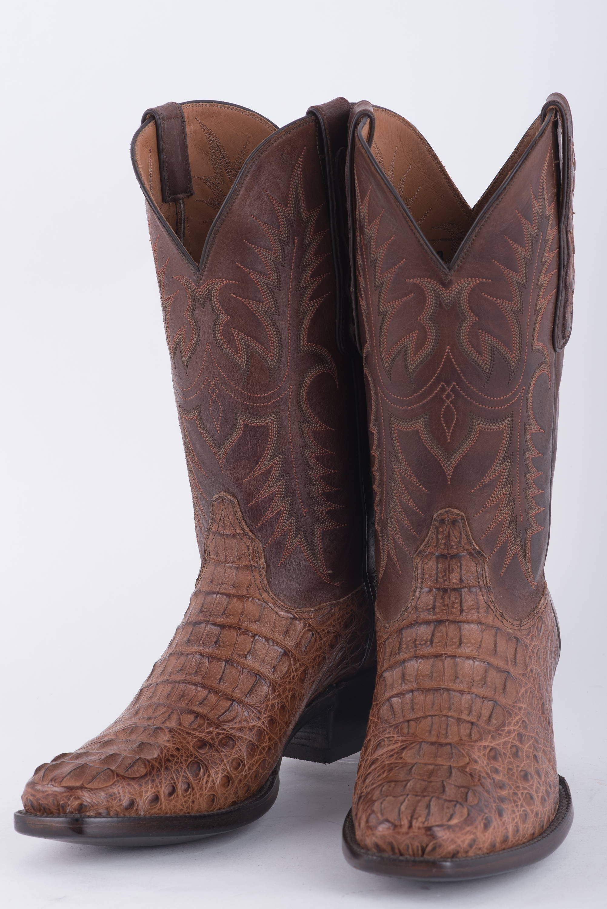 Handmade leather cowboy boots at the Houston Rodeo
