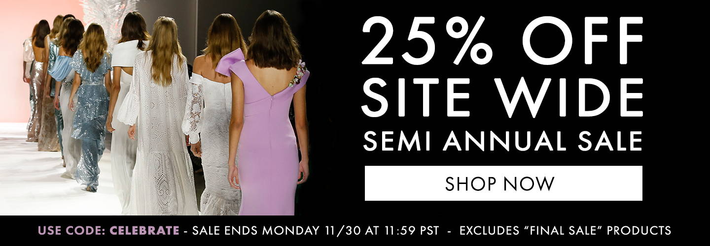 Semi Annual Sale 25% off code: CELEBRATE