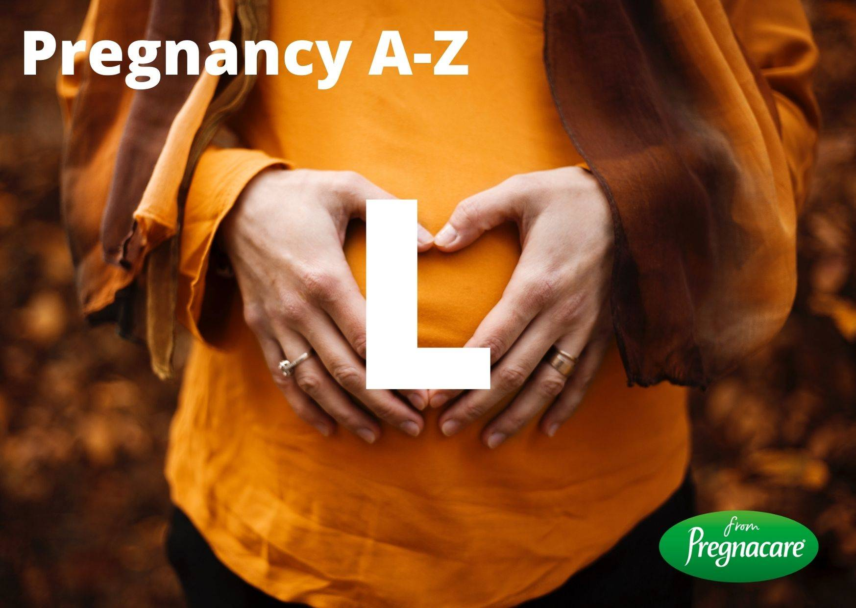 Letter L With Image Of Pregnant Woman