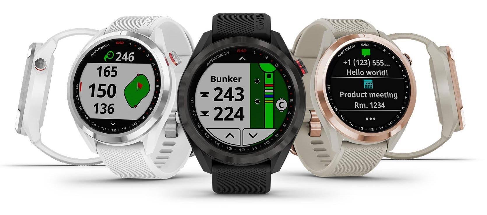 The Garmin Approach S12, S42, S62 golf GPS watches