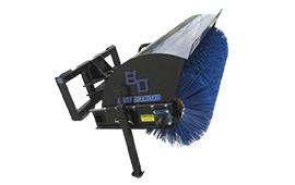 Mini rotary broom attachment