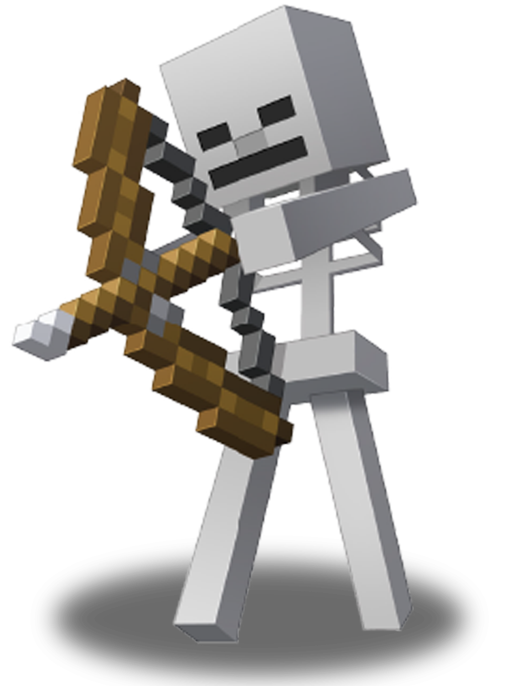 A Minecraft skeleton