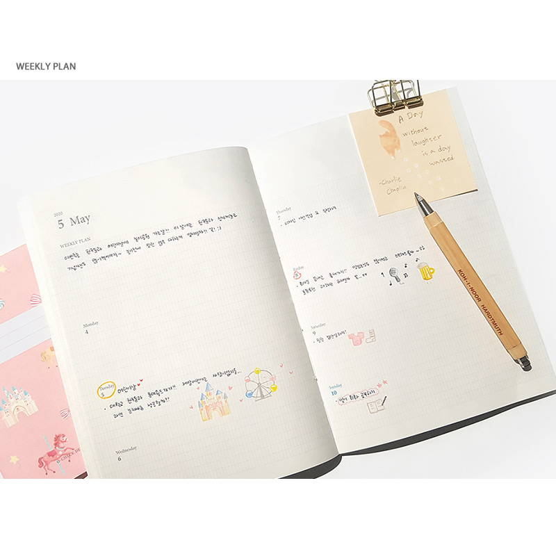 Weekly plan - O-CHECK 2020 Simple and basic A5 dated weekly planner