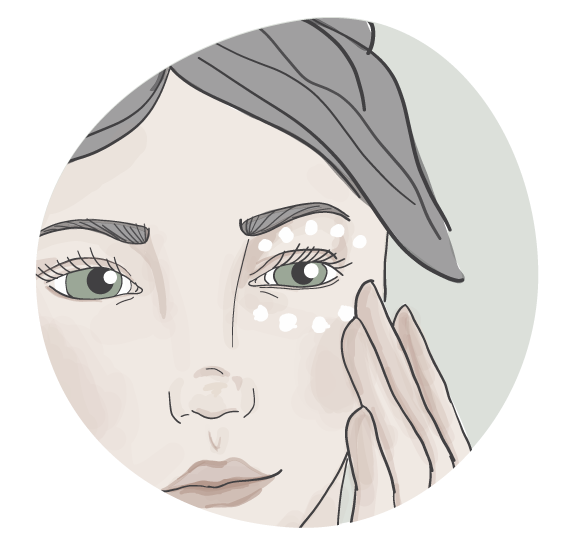 How to apply your eye cream properly. Eye cream properly apply around the eye on the orbital bone