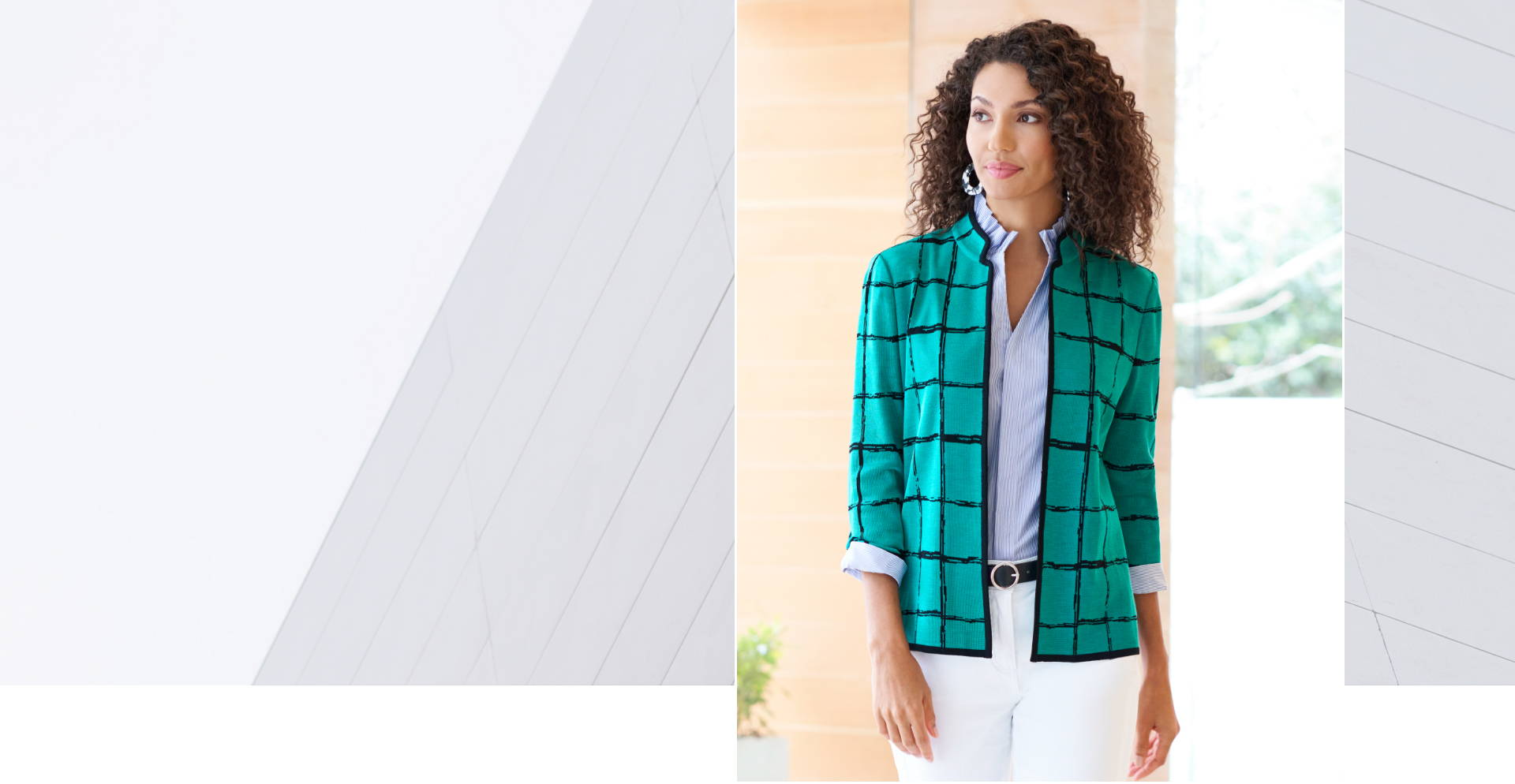 Ming's Style Secrets - Featuring the Abstract Check Knit Jacket