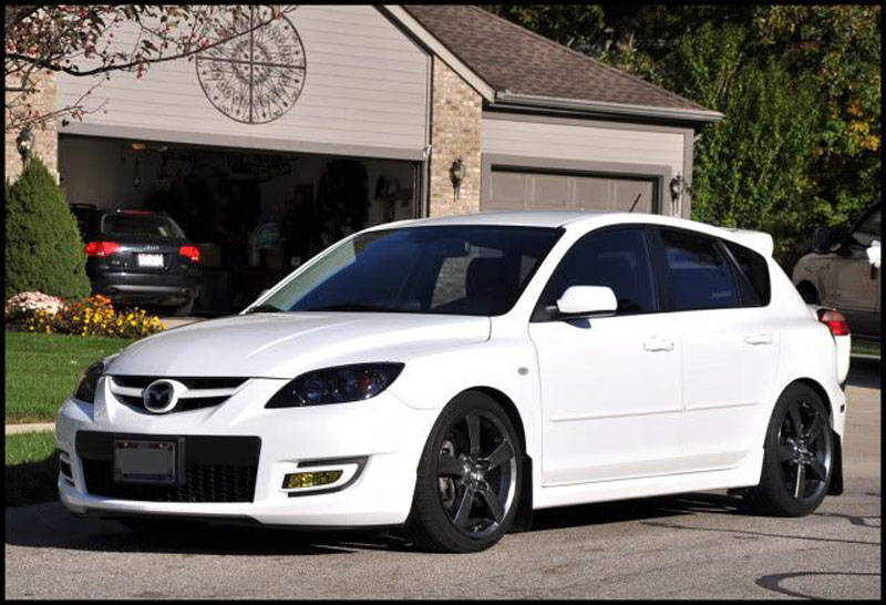 Mazdaspeed3 with Tint Lamin-x headlight tint film covers