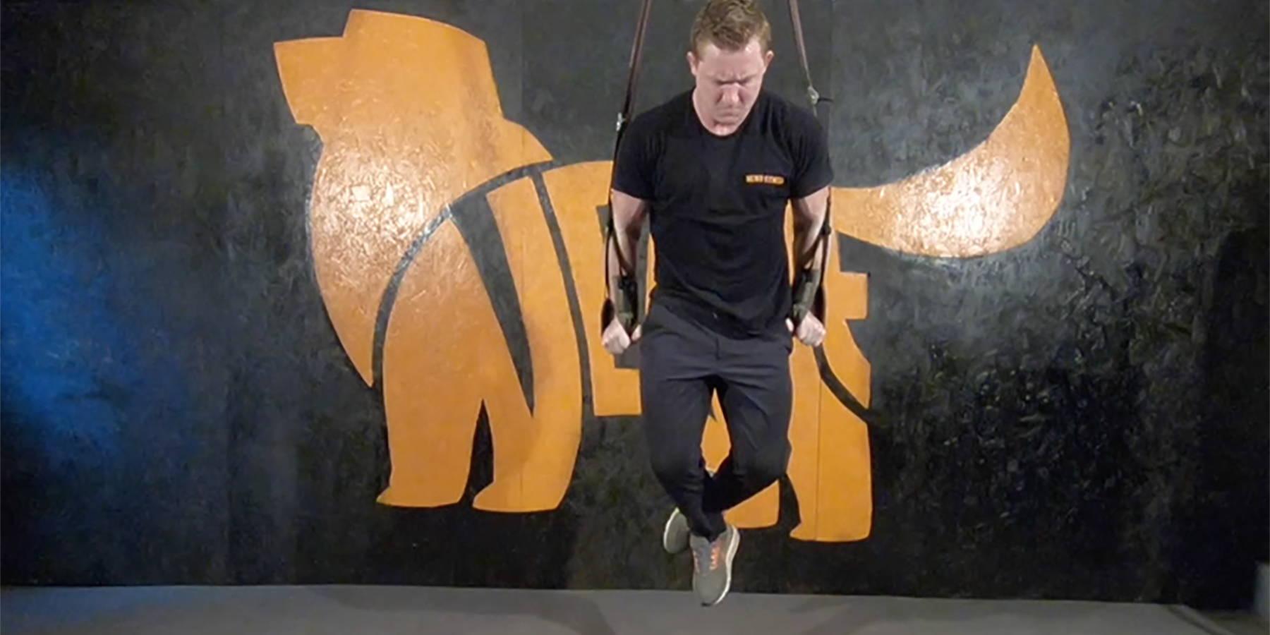 NEWF Bag Strap Dips Exercise