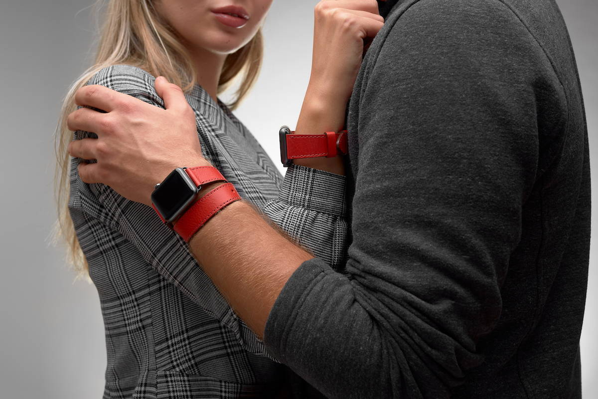 red watch band 42mm for him and her