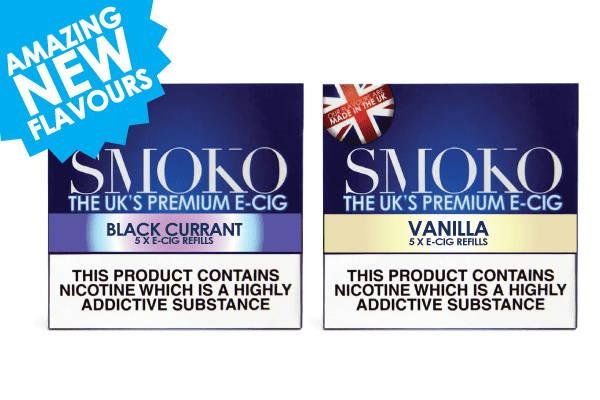 Amazing new e-cigarette refill flavours Vanilla e-cig pods and Black Currant refills