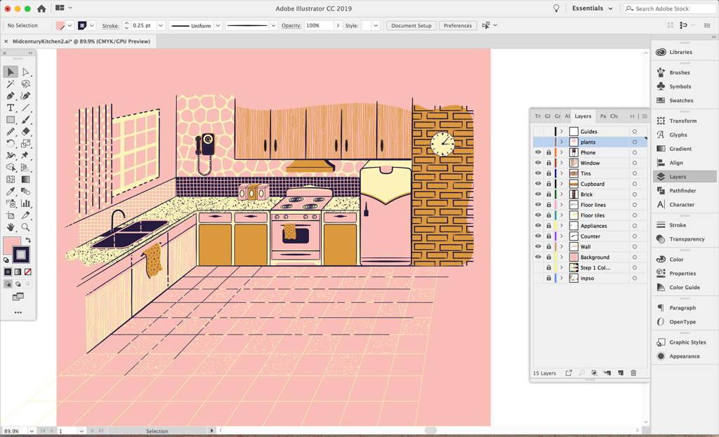 Organizing layers in Adobe Illustrator