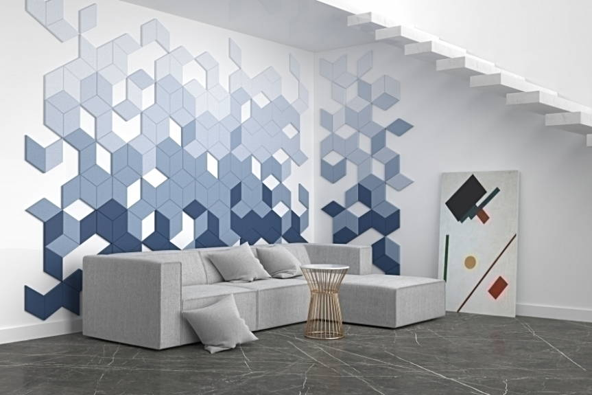 Fluffo 3D acoustic panels