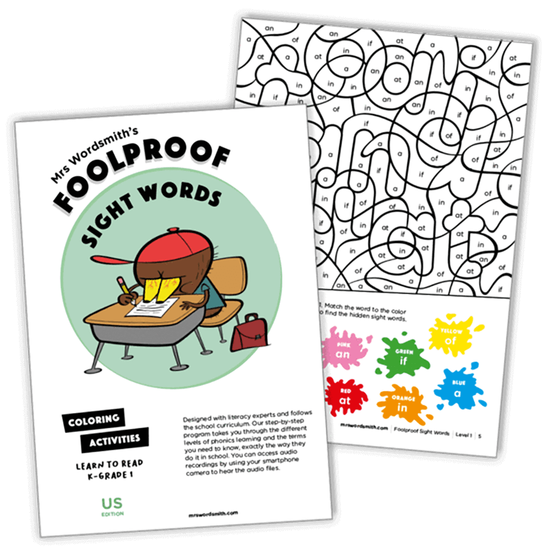 cover of sight words sample pack