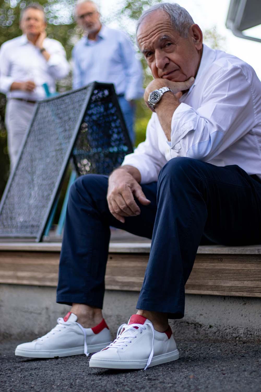 Sneakers haut-de-gamme homme pieds sensibles