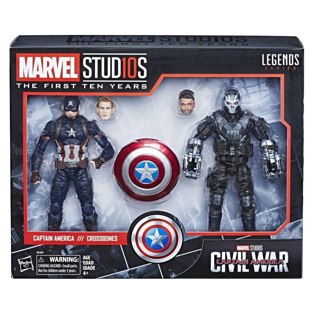 MARVEL STUDIOS: FIRST TEN YEARS - CAPTAIN AMERICA: CAPTAIN AMERICA AND CROSS BONES 2 PACK BY HASBRO  - INR 3599