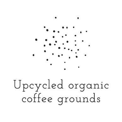 Upcycled organic coffee gounds