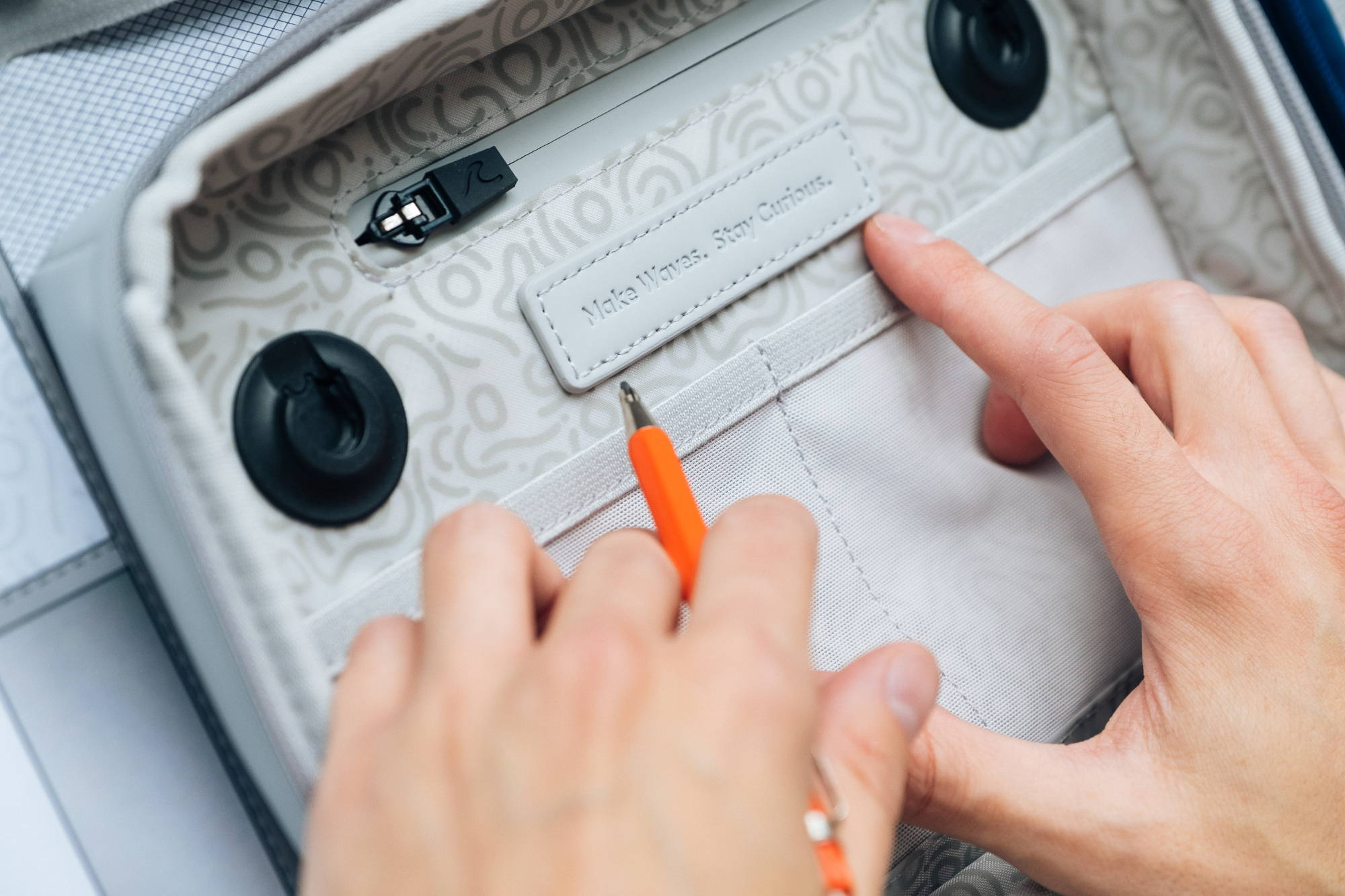 Crafting the finer details of the OneNine5 toiletry bag