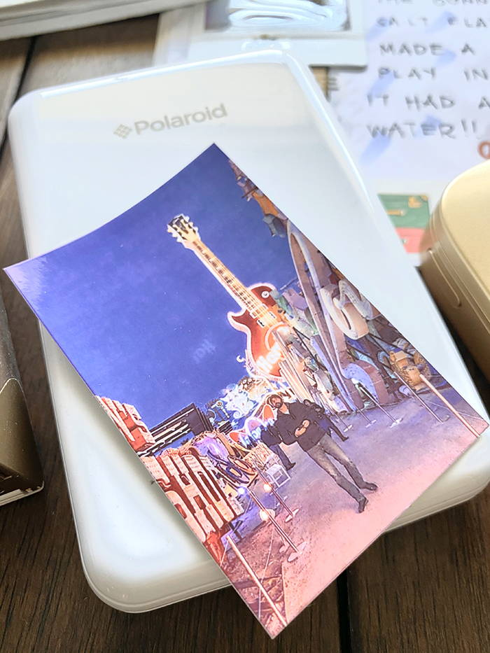Polaroid Zip Printer reviewed by bobo design studio for the Wanderlust Passport Travel Journal