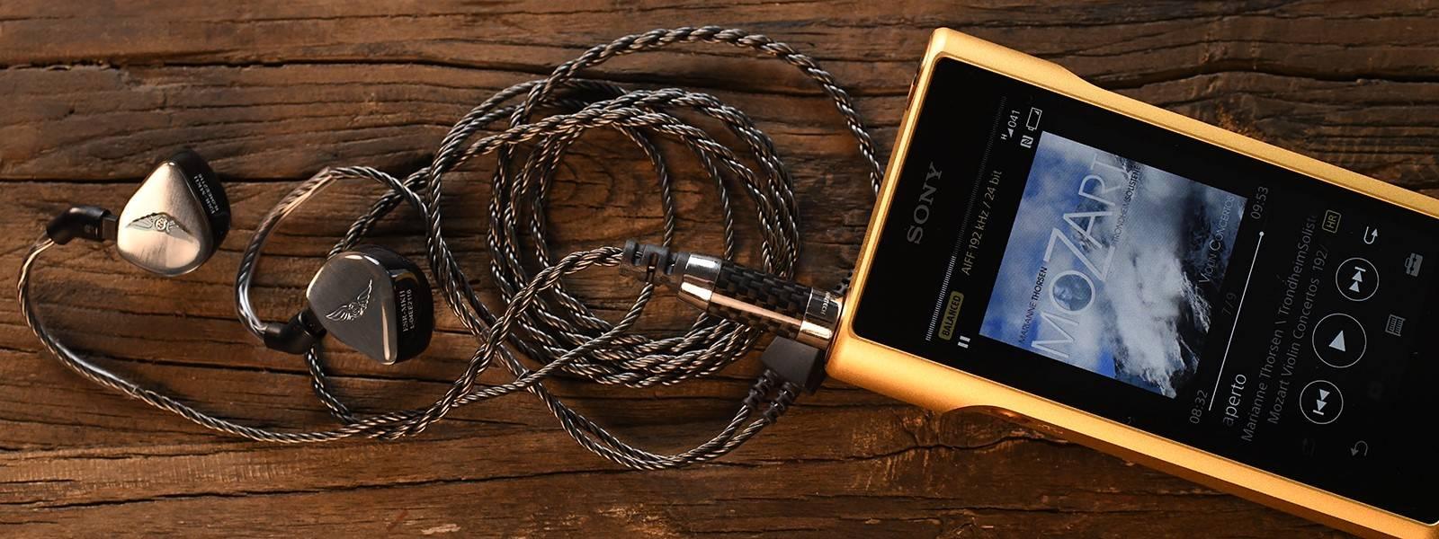 ESR MK-II with Silver Dragon IEM Cable and Sony NW-WM1Z Walkman